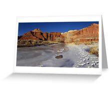 Frozen Desert Greeting Card