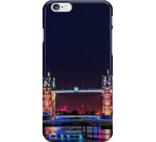 HMS Belfast And Tower Bridge at Night, London, England iPhone Case/Skin