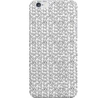 Knitting Knit Pattern - Doodle Ink Black and White iPhone Case/Skin
