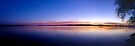 Sunset, Lake Champlain - Panorama by Stephen Beattie