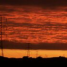 Pylons at Sunset by ElsT