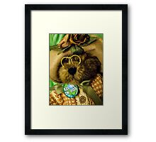 Kiss Me I'm Beary Irish! Framed Print