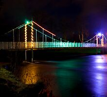 Ness Islands Bridge at night by Fraser Ross