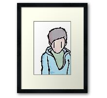 the boy is alone Framed Print