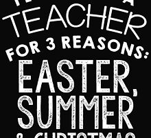 I LOVE BEING A TEACHER FOR 3 REASONS EASTER, SUMMER & CHRISTMAS by fandesigns