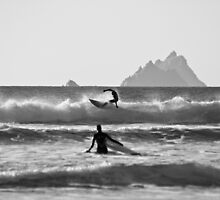 St. Finian's Bay - 'Silver Surfers' by highonsnow