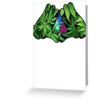 The Weed Galaxy Hands Greeting Card