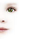 Child's Eye With The Brazilian Flag by Olga Altunina
