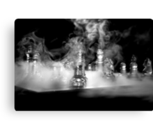 Ghost of a sailor playing chess - Actual shot unedited Canvas Print