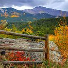 Fall fence scene by Rase Littlefield