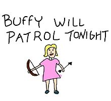 Buffy Will Patrol Tonight Colour by paton
