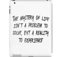 The Mystery of Life - Dune iPad Case/Skin