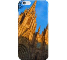 Warm Glow Cathedral - Impressions Of Barcelona iPhone Case/Skin