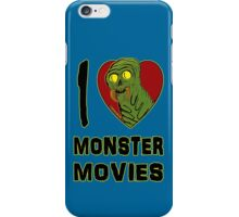 I Love Monster Movies iPhone Case/Skin