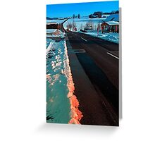Long country road in winter wonderland | landscape photography Greeting Card