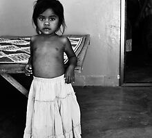 Cambodian Girl Orphaned by AIDS by Andrew Gray