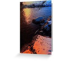 Winter evening down by the river | landscape photography Greeting Card
