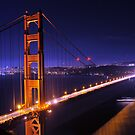 Golden Gate Bridge at Night by Stanley Ching