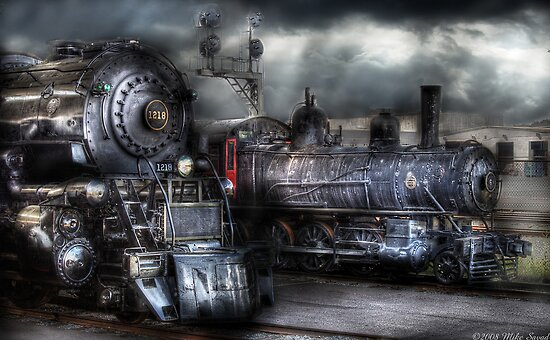 Waiting for Departure by Mike  Savad
