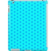 Icy Aqua and Blue Snowflake Pattern iPad Case/Skin