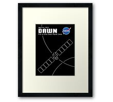 Dawn Spacecraft Framed Print