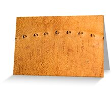 leather background Greeting Card