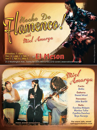Flamenco postcard #4 by Craig Schroeder