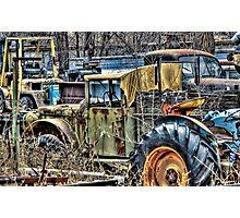 More Junk Trucks Photographic Print