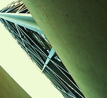 The Transamerica Building - stairwell by Michael Bisset