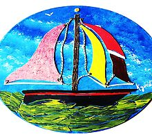 Happy Little Boat................A Hau`oli little Wa`a by WhiteDove Studio kj gordon
