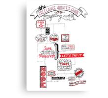 Freelance Flowchart Handlettering Canvas Print