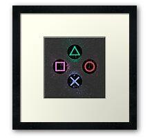 PS controller #2 Framed Print