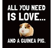 Love And A Guinea Pig 2 Photographic Print