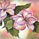 Pink Poinsettias by LinFrye