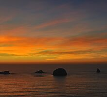 Sunset Over Redfish Rocks by Randall Scholten