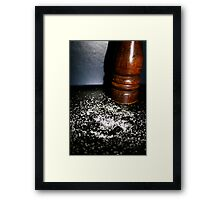 Salt Framed Print