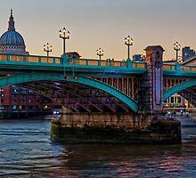 Southwark Bridge, London, England by atomov