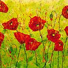 Field of Red Poppies by Wendy Sinclair