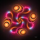 'Light Flame Abstract 249blk' by Scott Bricker