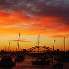 Sunset Sydney Harbour Bridge, Sydney, Australia. by Of Land & Ocean - Samantha Goode