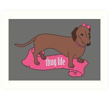 Thug Life - Vaguely Menacing Puppies with Bows #2 Art Print