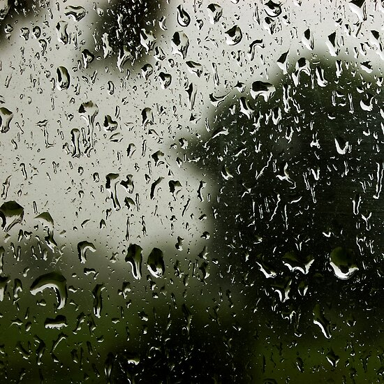and the way the rain comes down hard, that's how i feel inside by Bronwen Hyde