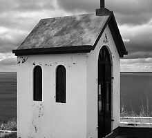 Chapel by the sea by Gaspar Avila