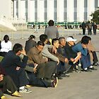 Watchful crowd - Tiananmen Square, Beijing by Jessica Bawden