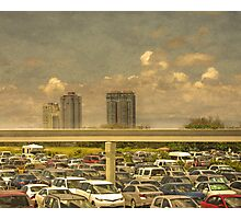 Theme Park Car Park Photographic Print