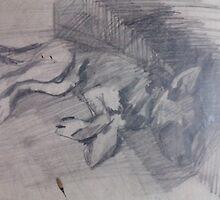 MY DOG LARY(C1980) by Paul Romanowski