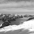Sea of Mist, Engelberg Valley from Stand, Engelberg-Titlis, Switzerland 2009 by J.D. Grubb