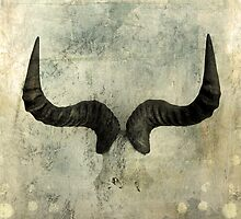Wildebeest Horns by Antaratma Images