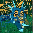 Styracosaurus Jungle by alaskanime