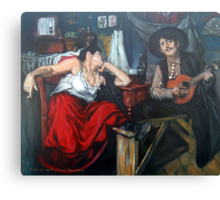 Fado After Jose Malhoa  Canvas Print